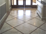 Fantastic finish to a high traffice area of marble flooring in a hallway